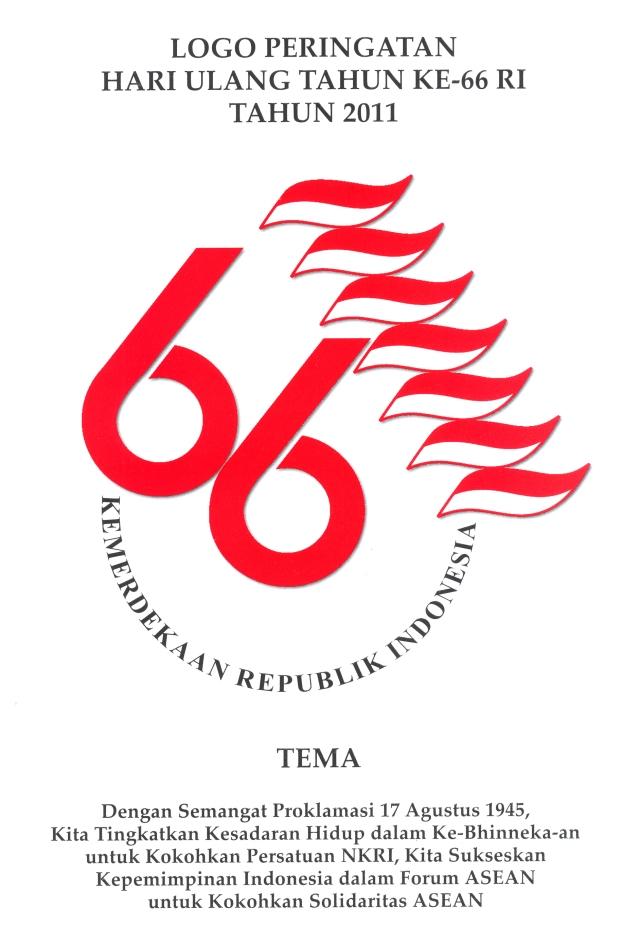 logo dan tema HUT RI ke 66
